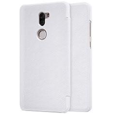 Coque Portefeuille Livre Cuir pour Xiaomi Mi 5S Plus Blanc