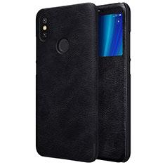Coque Portefeuille Livre Cuir pour Xiaomi Mi 6X Noir
