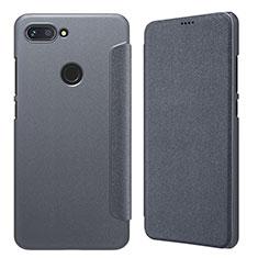 Coque Portefeuille Livre Cuir pour Xiaomi Mi 8 Lite Gris
