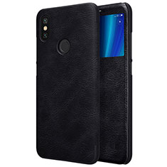 Coque Portefeuille Livre Cuir pour Xiaomi Mi A2 Noir