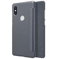 Coque Portefeuille Livre Cuir pour Xiaomi Mi Mix 2S Noir