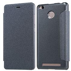 Coque Portefeuille Livre Cuir pour Xiaomi Redmi 3 High Edition Noir