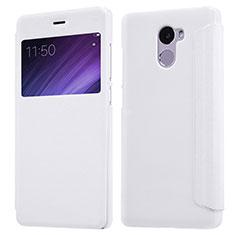 Coque Portefeuille Livre Cuir pour Xiaomi Redmi 4 Standard Edition Blanc