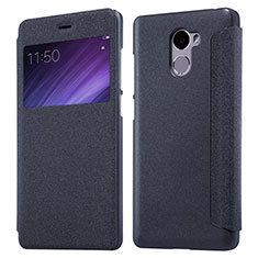 Coque Portefeuille Livre Cuir pour Xiaomi Redmi 4 Standard Edition Noir