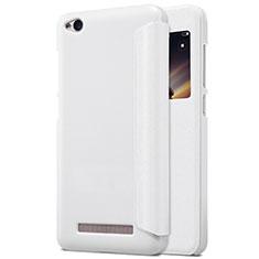 Coque Portefeuille Livre Cuir pour Xiaomi Redmi 4A Blanc