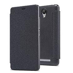 Coque Portefeuille Livre Cuir pour Xiaomi Redmi Note 2 Noir