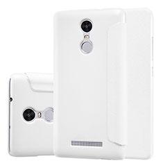 Coque Portefeuille Livre Cuir pour Xiaomi Redmi Note 3 MediaTek Blanc