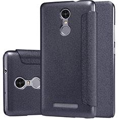 Coque Portefeuille Livre Cuir pour Xiaomi Redmi Note 3 MediaTek Noir