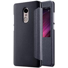 Coque Portefeuille Livre Cuir pour Xiaomi Redmi Note 4 Standard Edition Noir