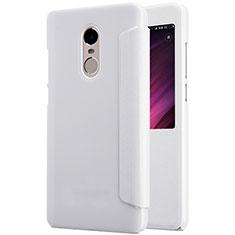 Coque Portefeuille Livre Cuir pour Xiaomi Redmi Note 4X Blanc