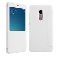 Coque Portefeuille Livre Cuir pour Xiaomi Redmi Note 4X High Edition Blanc