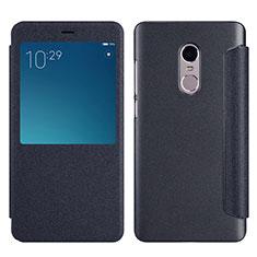Coque Portefeuille Livre Cuir pour Xiaomi Redmi Note 4X High Edition Noir