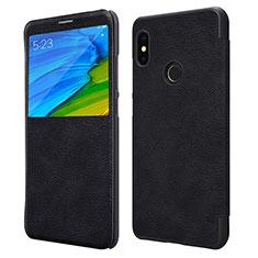 Coque Portefeuille Livre Cuir pour Xiaomi Redmi Note 5 Noir