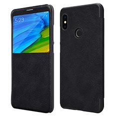 Coque Portefeuille Livre Cuir pour Xiaomi Redmi Note 5 Pro Noir