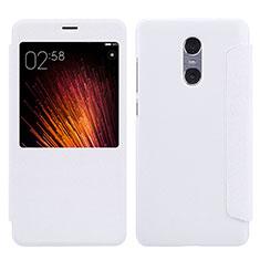Coque Portefeuille Livre Cuir pour Xiaomi Redmi Pro Blanc
