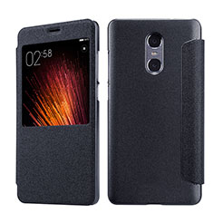 Coque Portefeuille Livre Cuir pour Xiaomi Redmi Pro Noir