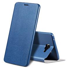 Coque Portefeuille Livre Cuir S01 pour Samsung Galaxy A9 Pro (2016) SM-A9100 Bleu