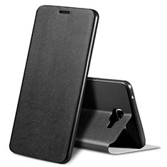 Coque Portefeuille Livre Cuir S01 pour Samsung Galaxy A9 Pro (2016) SM-A9100 Noir