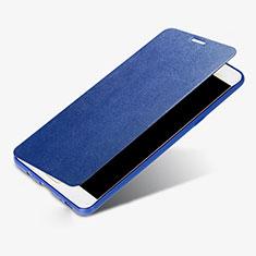 Coque Portefeuille Livre Cuir S01 pour Samsung Galaxy C9 Pro C9000 Bleu