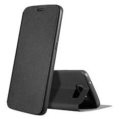 Coque Portefeuille Livre Cuir S01 pour Samsung Galaxy S7 G930F G930FD Noir