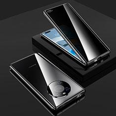 Coque Rebord Bumper Luxe Aluminum Metal Miroir 360 Degres Housse Etui Aimant K01 pour Huawei Mate 40 Pro Noir