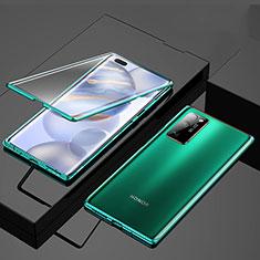 Coque Rebord Bumper Luxe Aluminum Metal Miroir 360 Degres Housse Etui Aimant M01 pour Huawei Honor 30 Pro Vert