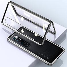 Coque Rebord Bumper Luxe Aluminum Metal Miroir 360 Degres Housse Etui Aimant M01 pour Xiaomi Mi 10 Ultra Noir
