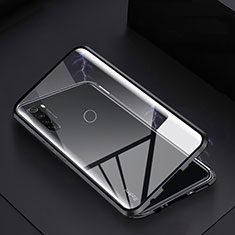 Coque Rebord Bumper Luxe Aluminum Metal Miroir 360 Degres Housse Etui Aimant M01 pour Xiaomi Redmi Note 8 Noir