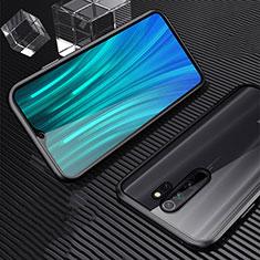 Coque Rebord Bumper Luxe Aluminum Metal Miroir 360 Degres Housse Etui Aimant M01 pour Xiaomi Redmi Note 8 Pro Noir
