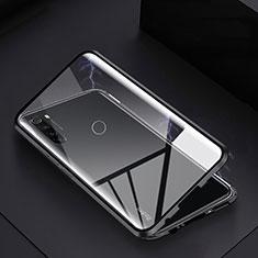Coque Rebord Bumper Luxe Aluminum Metal Miroir 360 Degres Housse Etui Aimant M01 pour Xiaomi Redmi Note 8T Noir