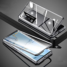 Coque Rebord Bumper Luxe Aluminum Metal Miroir 360 Degres Housse Etui Aimant M02 pour Xiaomi Mi 10 Ultra Noir