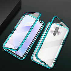 Coque Rebord Bumper Luxe Aluminum Metal Miroir 360 Degres Housse Etui Aimant M03 pour Xiaomi Redmi K30 4G Vert
