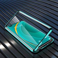 Coque Rebord Bumper Luxe Aluminum Metal Miroir 360 Degres Housse Etui Aimant M04 pour Huawei Nova 7 Pro 5G Vert