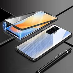 Coque Rebord Bumper Luxe Aluminum Metal Miroir 360 Degres Housse Etui Aimant M04 pour Vivo X51 5G Noir
