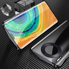 Coque Rebord Bumper Luxe Aluminum Metal Miroir 360 Degres Housse Etui Aimant M05 pour Huawei Mate 30 Noir