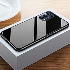 Coque Rebord Bumper Luxe Aluminum Metal Miroir 360 Degres Housse Etui Aimant M05 pour Oppo Reno5 Pro 5G Noir
