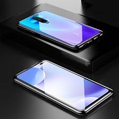 Coque Rebord Bumper Luxe Aluminum Metal Miroir 360 Degres Housse Etui Aimant M05 pour Xiaomi Poco X2 Noir