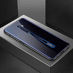 Coque Rebord Bumper Luxe Aluminum Metal Miroir 360 Degres Housse Etui Aimant M07 pour Oppo Reno2 Noir