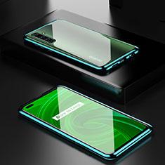 Coque Rebord Bumper Luxe Aluminum Metal Miroir 360 Degres Housse Etui Aimant pour Realme X50 Pro 5G Vert