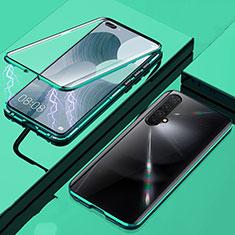 Coque Rebord Bumper Luxe Aluminum Metal Miroir 360 Degres Housse Etui Aimant pour Realme X50m 5G Vert