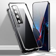 Coque Rebord Bumper Luxe Aluminum Metal Miroir 360 Degres Housse Etui Aimant pour Xiaomi Mi 10 Ultra Noir