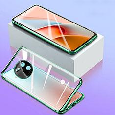 Coque Rebord Bumper Luxe Aluminum Metal Miroir 360 Degres Housse Etui Aimant pour Xiaomi Mi 10T Lite 5G Vert
