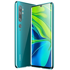 Coque Rebord Bumper Luxe Aluminum Metal Miroir 360 Degres Housse Etui Aimant pour Xiaomi Mi Note 10 Vert