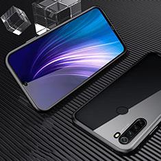 Coque Rebord Bumper Luxe Aluminum Metal Miroir 360 Degres Housse Etui Aimant pour Xiaomi Redmi Note 8T Noir