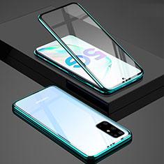 Coque Rebord Bumper Luxe Aluminum Metal Miroir 360 Degres Housse Etui Aimant T02 pour Samsung Galaxy S20 Plus Vert