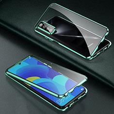 Coque Rebord Bumper Luxe Aluminum Metal Miroir 360 Degres Housse Etui Aimant T03 pour Oppo Find X2 Lite Vert
