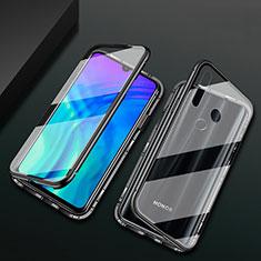 Coque Rebord Bumper Luxe Aluminum Metal Miroir 360 Degres Housse Etui Aimant T04 pour Huawei Honor 20 Lite Noir