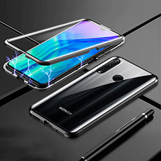 Coque Rebord Bumper Luxe Aluminum Metal Miroir 360 Degres Housse Etui Aimant T07 pour Huawei Honor 20 Lite Noir