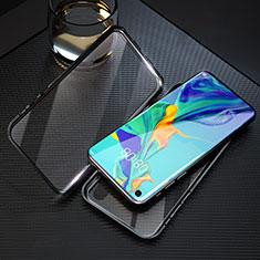 Coque Rebord Bumper Luxe Aluminum Metal Miroir 360 Degres Housse Etui Aimant T09 pour Huawei Honor 20 Noir