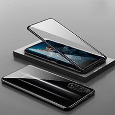 Coque Rebord Bumper Luxe Aluminum Metal Miroir 360 Degres Housse Etui Aimant T10 pour Huawei Honor 20 Noir